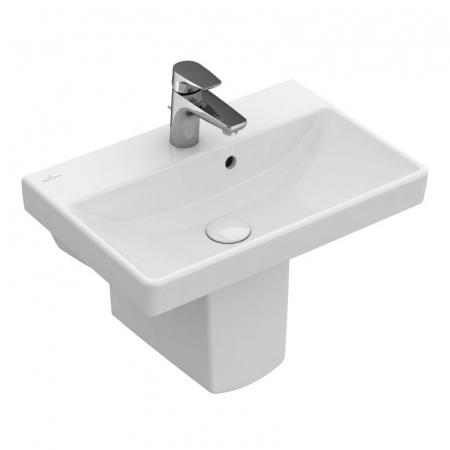 Villeroy & Boch Avento Umywalka mała wisząca 55x37 cm z przelewem, biała Weiss Alpin 4A005501