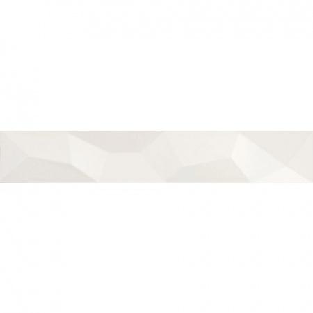 Villeroy & Boch BiancoNero Bordiura 10x60 cm rektyfikowana, biała white 1898BW02