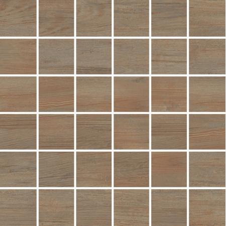 Villeroy & Boch Boisee Mozaika podłogowa 5x5 cm rektyfikowana Vilbostoneplus, brązowa barrique brown 2031BI90