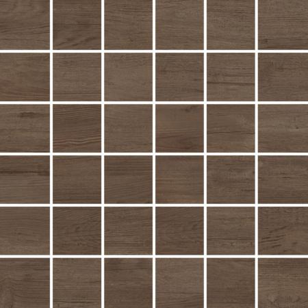 Villeroy & Boch Boisee Mozaika podłogowa 5x5 cm rektyfikowana Vilbostoneplus, brązowa walnut brown 2031BI80