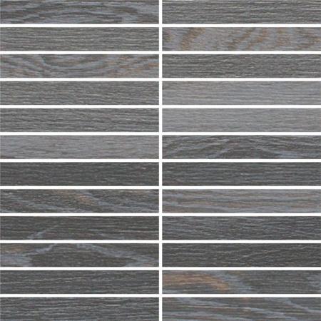 Villeroy & Boch Halston Płytka podłogowa 2,5x15 cm rektyfikowana Vilbostoneplus, czarna coal black 2135PC9V
