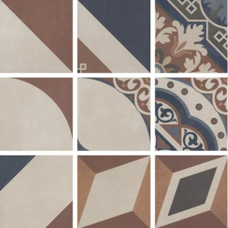 Villeroy & Boch Century Unlimited Dekor podłogowy i ścienny 20x20 cm rektyfikowany, multikolor multicolour warm 2634CF4P