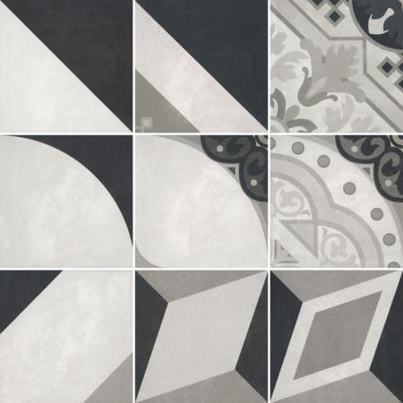 Villeroy & Boch Century Unlimited Dekor podłogowy 20x20 cm rektyfikowany, szary grey 2634CF9P