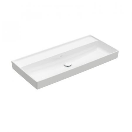 Villeroy & Boch Collaro Umywalka meblowa 100x47 cm bez przelewu, z powłoką CeramicPlus, biała Weiss Alpin 4A33A3R1