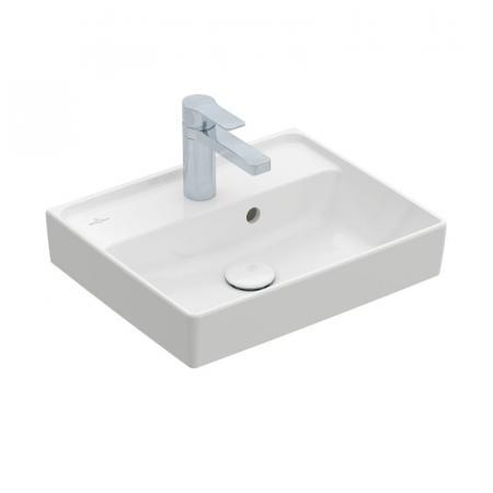 Villeroy & Boch Collaro Umywalka meblowa mała 45x37 cm z przelewem, biała Weiss Alpin 43344501