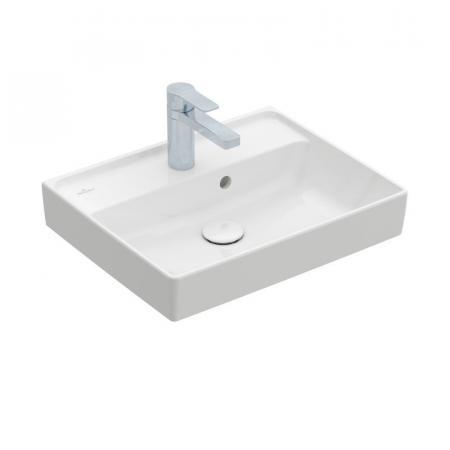 Villeroy & Boch Collaro Umywalka meblowa mała 50x40 cm z przelewem, z powłoką CeramicPlus, biała Weiss Alpin 433450R1