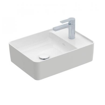 Villeroy & Boch Collaro Umywalka nablatowa 51x38 cm bez przelewu, biała Weiss Alpin 4A175101