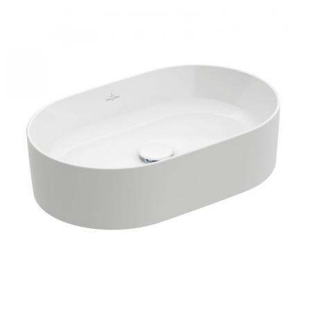 Villeroy & Boch Collaro Umywalka nablatowa 56x36 cm bez przelewu, z powłoką CeramicPlus, biała Weiss Alpin 4A1956R1