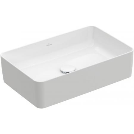 Villeroy & Boch Collaro Umywalka nablatowa 56x36 cm bez przelewu, z powłoką CeramicPlus, biała Weiss Alpin 4A2056R1