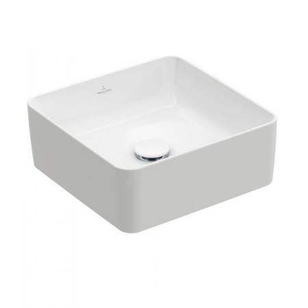 Villeroy & Boch Collaro Umywalka nablatowa mała 38x38 cm bez przelewu, z powłoką CeramicPlus, biała Stone White 4A2138RW
