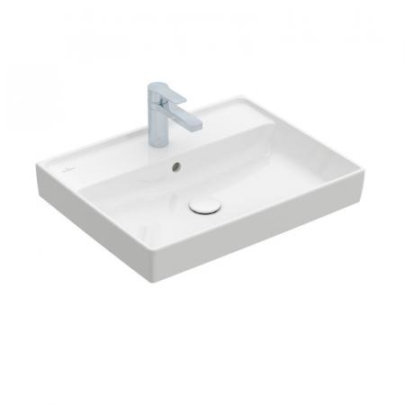 Villeroy & Boch Collaro Umywalka meblowa 60x47 cm z przelewem, z powłoką CeramicPlus, biała Stone White 4A336GRW