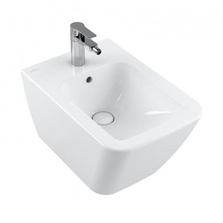 Villeroy & Boch Finion Bidet podwieszany 37,5x56 cm z przelewem, z powłoką CeramicPlus, biała Weiss Alpin 446500R1