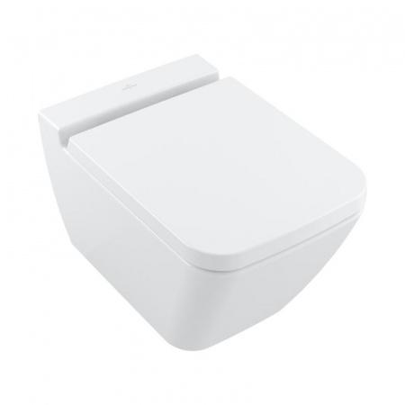 Villeroy & Boch Finion Toaleta WC podwieszana 37,5x56 cm DirectFlush bez kołnierza, z powłoką CeramicPlus, biała Weiss Alpin 4664R0R1