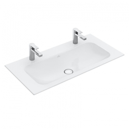 Villeroy & Boch Finion Umywalka meblowa 100x50 cm bez przelewu, z powłoką CeramicPlus, biała Weiss Alpin 4164A1R1