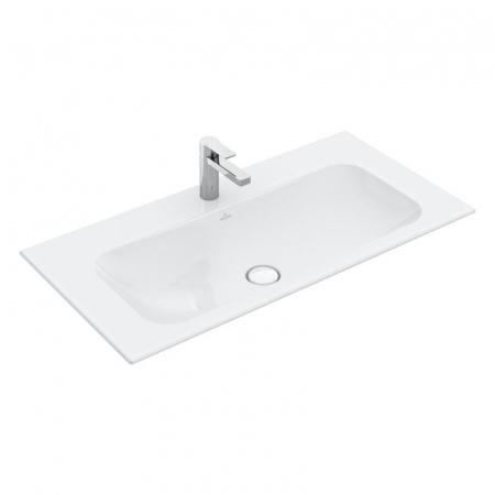 Villeroy & Boch Finion Umywalka meblowa 100x50 cm bez przelewu, z powłoką CeramicPlus, biała Weiss Alpin 4164A2R1