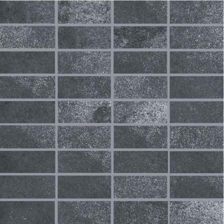 Villeroy & Boch Fire&Ice Mozaika podłogowa 3,3x7,5 cm rektyfikowana, stalowoszara steel grey 2411MT20