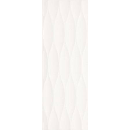 Villeroy & Boch Flowmotion Dekor ścienny 25x70 cm rektyfikowany CeramicPlus, biały white 1371GR05