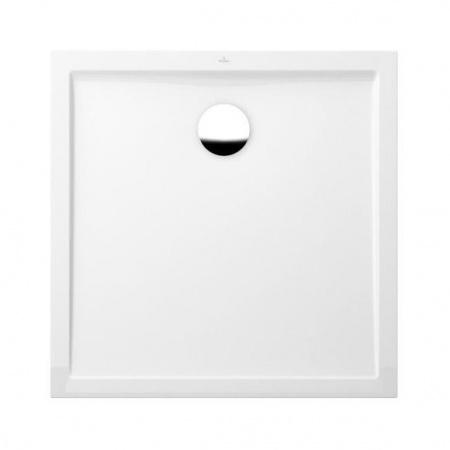 Villeroy & Boch Futurion Flat Brodzik kwadratowy 90x90x1,7 cm z Quarylu, biały Weiss Alpin UDQ0900FFL1V-01