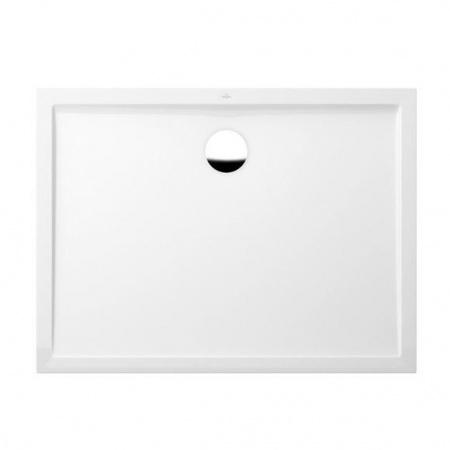 Villeroy & Boch Futurion Flat Brodzik prostokątny 120x90x1,7 cm z Quarylu, biały Weiss Alpin UDQ1290FFL2V-01