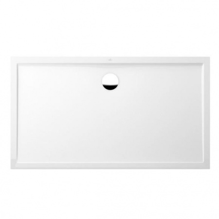 Villeroy & Boch Futurion Flat Brodzik prostokątny 160x90x1,7 cm z Quarylu, biały Weiss Alpin UDQ1690FFL2V-01