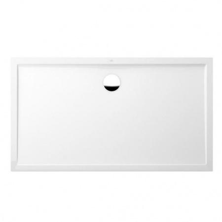 Villeroy & Boch Futurion Flat Brodzik prostokątny 100x80x1,7 cm z Quarylu, biały Weiss Alpin UDQ1800FFL2V-01