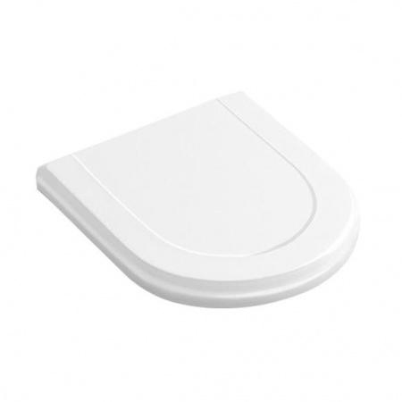 Villeroy & Boch Hommage Deska sedesowa wolnoopadająca, z powłoką CeramicPlus, biała Weiss Alpin 8809S1R1