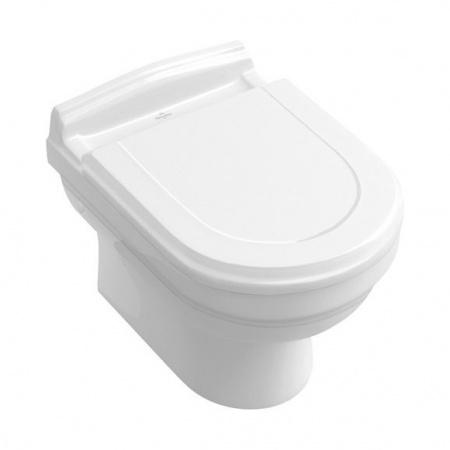 Villeroy & Boch Hommage Toaleta WC podwieszana 37x60 cm lejowa, z powłoką CeramicPlus, biała Weiss Alpin 6661B0R1