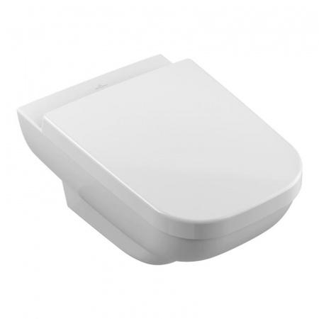 Villeroy & Boch Joyce Toaleta WC podwieszana 37x56 cm lejowa DirectFlush bez kołnierza wewnętrznego, z powłoką CeramicPlus, biała Weiss Alpin 5607R0R1