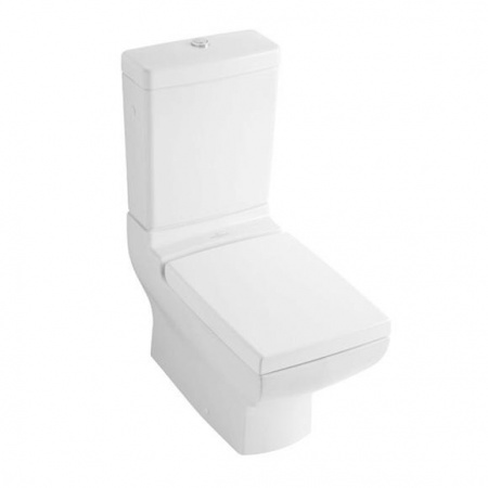 Villeroy & Boch La Belle Toaleta WC stojąca kompaktowa 38,5x70,5 cm lejowa z powłoką CeramicPlus, biała Weiss Alpin 564710R1