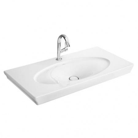 Villeroy & Boch La Belle Umywalka meblowa/wisząca 100x49 cm, bez przelewu, z powłoką CeramicPlus, biała Weiss Alpin 612411R1