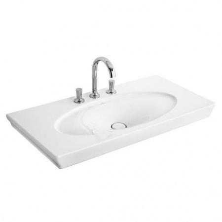 Villeroy & Boch La Belle Umywalka meblowa/wisząca 100x49 cm, bez przelewu, z powłoką CeramicPlus, biała Weiss Alpin 6124A1R1