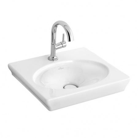 Villeroy & Boch La Belle Umywalka meblowa/wisząca 52x46 cm, bez przelewu, z powłoką CeramicPlus, biała Weiss Alpin 7324G0R1