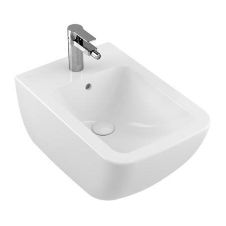 Villeroy & Boch Legato Bidet podwieszany z przelewem 37,5x56 cm, biały Weiss Alpin CeramicPlus 546200R1