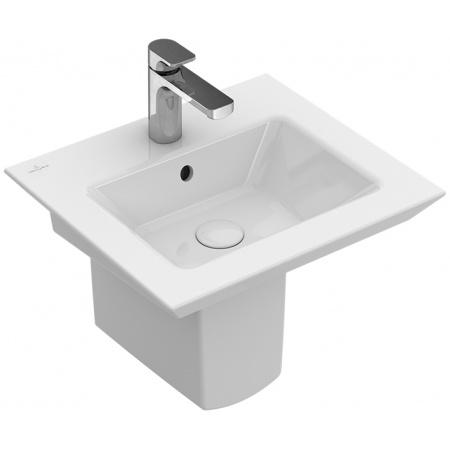 Villeroy & Boch Legato Umywalka mała z przelewem 50x44 cm, biała Weiss Alpin CeramicPlus 435150R1