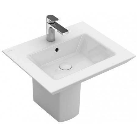 Villeroy & Boch Legato Umywalka meblowa z przelewem 60x50 cm, biała Weiss Alpin CeramicPlus 415160R1
