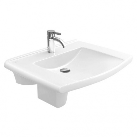 Villeroy & Boch Lifetime Umywalka wisząca 60x52 cm, bez przelewu, z powłoką CeramicPlus, biała Weiss Alpin 517461R1