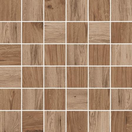 Villeroy & Boch Lodge Dekor podłogowy 5x5 cm rektyfikowany Vilbostoneplus, brązowy multikolor brown multicolour 2031HW85