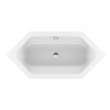 Villeroy & Boch Loop & Friends Square Duo Wanna sześciokątna o prostokątnej formie wewnętrznej 190x90 cm, biała Weiss Alpin UBA199LFS6V-01