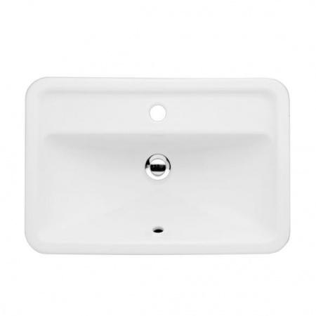 Villeroy & Boch Loop&Friends Umywalka nablatowa 60x40 cm, z przelewem, z powłoką CeramicPlus, biała Weiss Alpin 514550R1