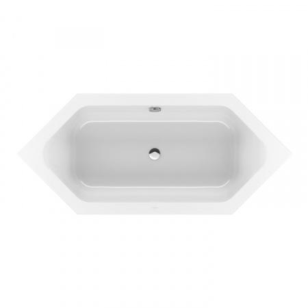 Villeroy & Boch Loop & Friends Square Duo Wanna sześciokątna o prostokątnej formie wewnętrznej 205x90 cm, biała Weiss Alpin UBA205LFS6V-01