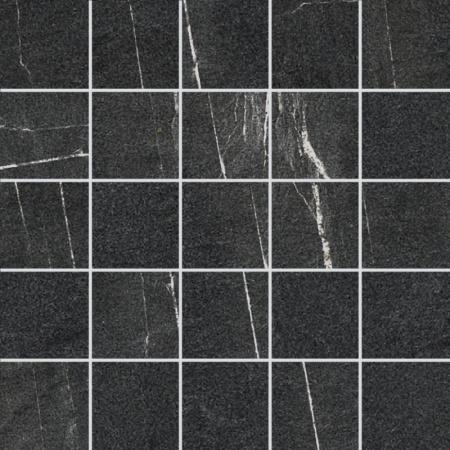 Villeroy & Boch Lucerna Mozaika podłogowa 7x7 cm rektyfikowana VilbostonePlus, czarna black 2174LU90