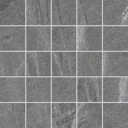 Villeroy & Boch Lucerna Mozaika podłogowa 7x7 cm rektyfikowana VilbostonePlus, grafitowa graphite 2174LU91