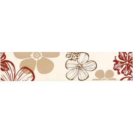 Villeroy & Boch Melrose Bordiura 7x30 cm rektyfikowana, czerwonobeżowa red-beige 1896NW35