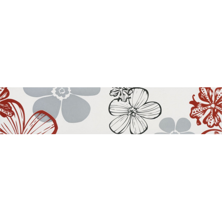 Villeroy & Boch Melrose Bordiura 7x30 cm rektyfikowana, czerwonoszara red-grey 1896NW15