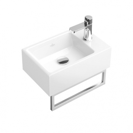 Villeroy & Boch Memento Umywalka mała wisząca 40x26 cm bez powłoki, biała Weiss Alpin 53334101