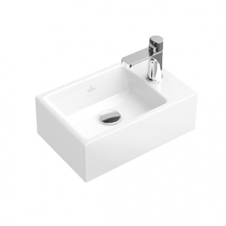 Villeroy & Boch Memento Umywalka mała wisząca 40x26 cm bez powłoki, biała Weiss Alpin 53334G01