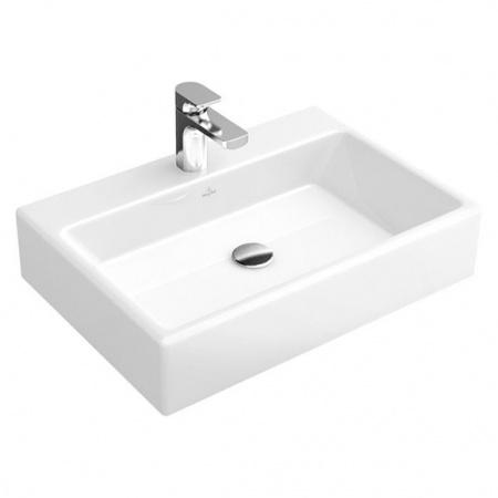 Villeroy & Boch Memento Umywalka nablatowa 50x42 cm z powłoką CeramicPlus, biała Weiss Alpin 513551R1