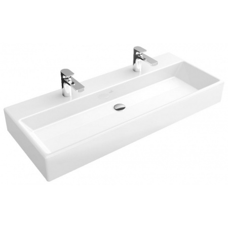 Villeroy & Boch Memento Umywalka wisząca 120x47 cm podwójna bez powłoki, biała Weiss Alpin 5133C401