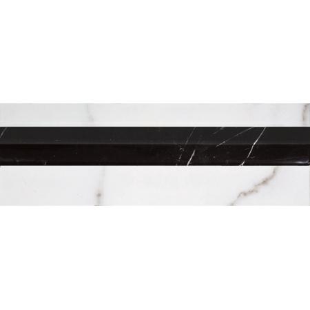 Villeroy & Boch New Tradition Bordiura 10x30 cm, biało-czarna bianco-nero 1420ML08