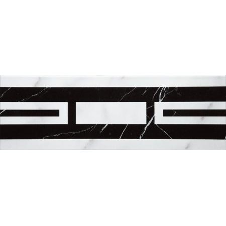 Villeroy & Boch New Tradition Bordiura 10x30 cm, biało-czarna bianco-nero 1771ML04